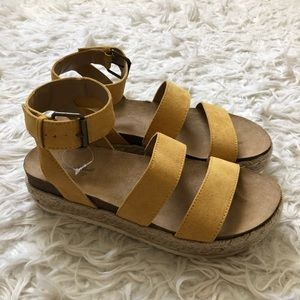 BRAND NEW yellow sandals